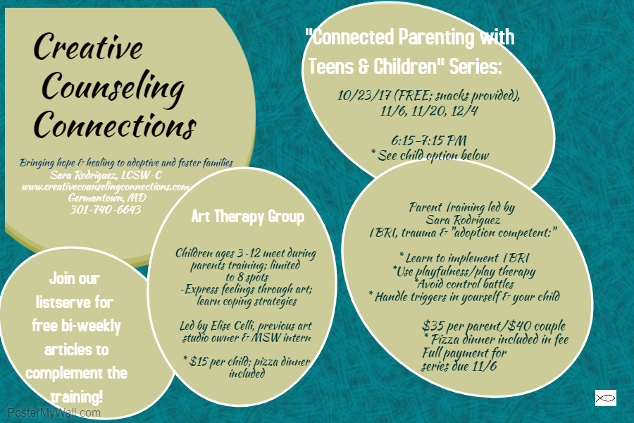 Connected Parent Training Series. Oct 2017