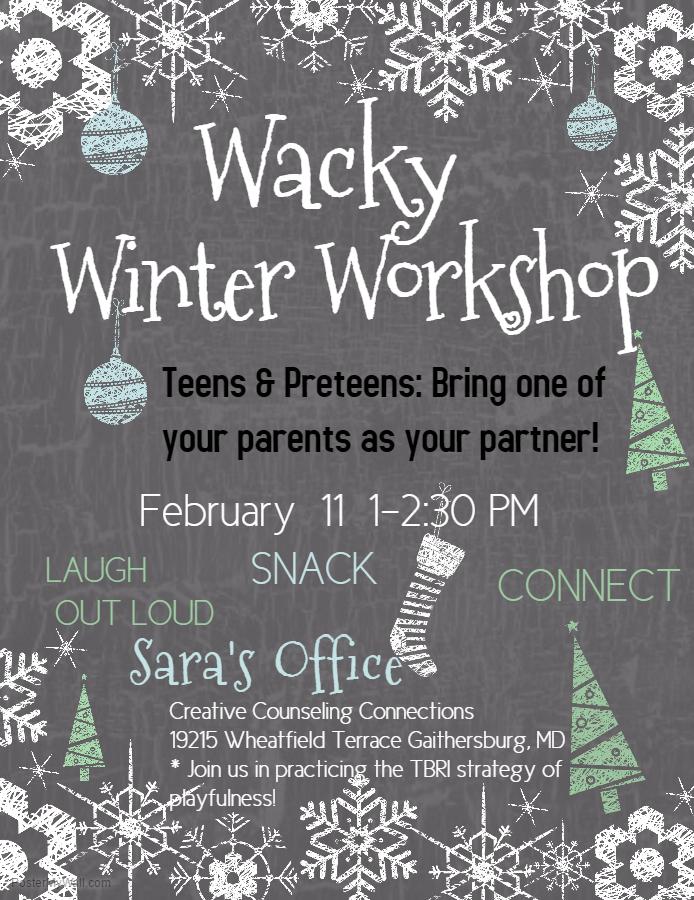 Rescheduled Wacky Workshop